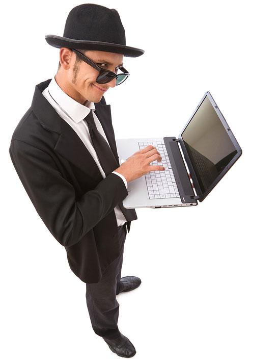Funeral Spy Guy