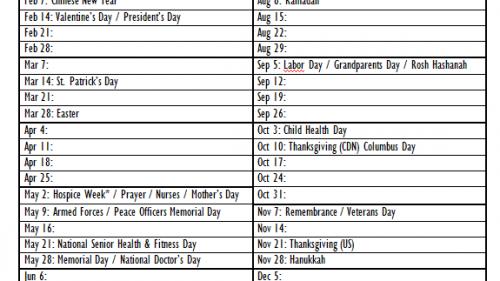 2011 Social Media Marketing Calendar