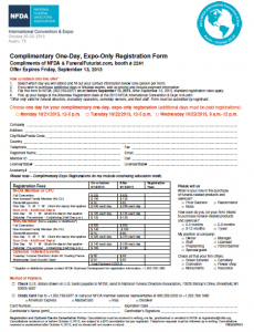 NFDA - Complimentary 1 Day Pass