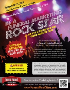 Funeral Rock Stars Event Poster