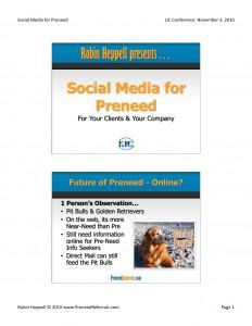 Social Media for Preneed LIC 2010 Handouts